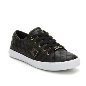 Guess Byrone Black Quilted Sneakers 9.5 NWT